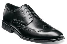 Stacy Adams Men's Rayburn Dress Leather Wingtip Oxford Shoes Black 25036