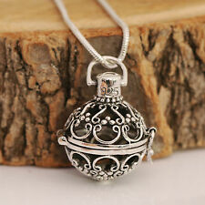 925 Sterling Silver Prayer Box Locket Pendant With Snake Chain Necklace /Boxed