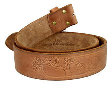 VINTAGE TOOLED  EMBOSSED LEATHER 1 3/4  WIDE BELT STRAP BROWN SIZES 32 - 44 NEW