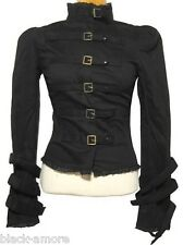 Spin Doctor Foggy Corset Jacket Goth Steampunk Black Victorian Size Large