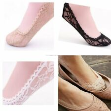 Summer Need Sexy Womens Low Cut Socks Ankle Slippers Socks Floral Lace Antiskid