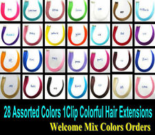 Clip in Hair Extensions Highlight Colorful Hair Colored Hair Single Clip on Hair