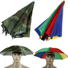 Outdoor Foldable Sun Umbrella Hat Golf Fishing Camping Headwear Cap Headwear Hat