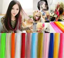 55cm Multi Color Long Synthetic Hair Extension Clip In On Hair Extensions Piece