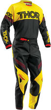 Thor Mens & Youth Black/Golden Yellow Phase Hyperion Dirt Bike Jersey & Pants MX
