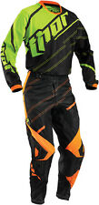 Thor Mens & Youth Black/Fluorescent Phase Vented Doppler Dirt Bike Jersey Pants