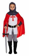 Childrens Medieval Crusader Red Knight Fancy Dress Costume