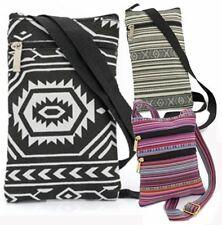 NEW LADIES CROSSBODY SMALL TRAVEL FLAT BAG TRAVEL MONEY POUCH EVERYDAY AZTEC BAG