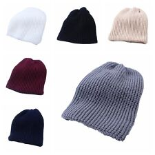 Unisex Mens Womens Winter Warm Knit Ski Beanie Slouchy Oversized Cap Hats 3FZ