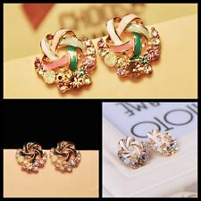 Women's Elegant Crystal Rhinestone Earring Korean Windmill Ear Stud Gift HOT