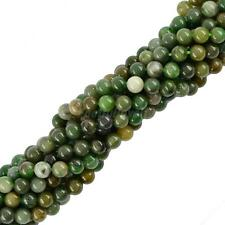 "Round Natural African Jade Gemstone Stone Loose Beads 15"" Jewelry Making DIY"