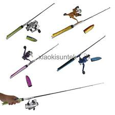 Mini Portable Telescopic Pocket Fish Pen Fishing Rod Pole + Spinning Reel Wheel