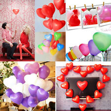 100pcs Colorful Heart Shaped Latex Balloons Wedding Birthday Party Decoration