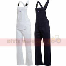 Mens Bib And Brace Painters Decorators Overalls Coveralls Dungarees Cotton Drill