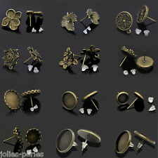 Earring Post W/Stoppers Bronze Tone M0978
