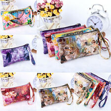 Women Lady PU Leather Coin Bag Case Card Holder Phone Zip Clutch Wallet Purse