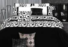 Lyde black white KING / Queen size Quilt Cover duvet Cover Set wh pillowcases