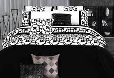 super KING / Queen lyde white Quilt Cover set black doona Cover Set or accessory
