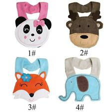 Cartoon Lunch Bibs Infants Kids Baby Cotton Saliva Towel Waterproof Bibs C2T9