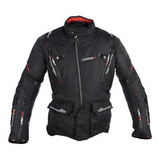 Oxford Montreal Mens Tech Black Motorcycle Mid-length Textile Jacket   All Sizes