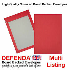 C4-A4  C5-A5 RED Coloured BOARD BACKED ENVELOPES Strong Hard Card Back Mailers
