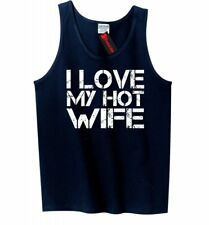 I Love My Hot Wife Mens Tank Top Funny Valentines Day Gift Sleeveless Shirt Z3