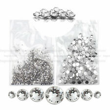 1440 Pcs Round Clear Rhinestone Flatback Crystal Glass Nail Art Glitter Beads