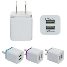 USA Plug Home Travel Dual Port AC USB Wall Charger Adapter for iPhone Samsung