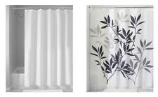 "InterDesign Set of 2: Shower Curtain & Mildew-Free Shower Curtain Liner, 72""x72"""