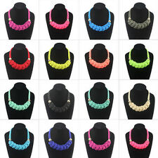 New fashion handmade woven Chinese knot cotton rope Fluorescent color necklace