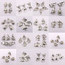 Wholesale 10-100Pcs Tibet Silver Spacer Pendant Charm Jewelry Craft DIY 10Styles