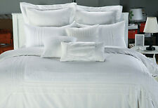 White embroidery lace Quilt Cover Set lace pintuck duvet cover set queen king