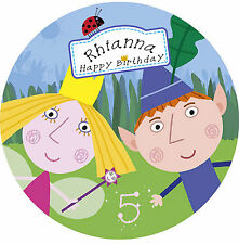 Ben & Holly Little Kingdom Personalised Edible Image REAL Icing Cake Topper