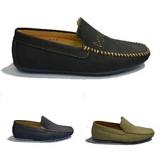 MENS ITALIAN LOAFERS MOCCASIN DRIVING CASUAL PARTY ITALIAN SLIP ON SHOES 6 - 11