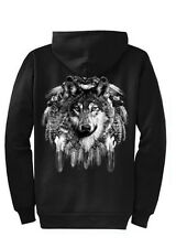 Wolf Dreamcatcher Hoodie Zip Up Sweatshirt S M L XL 2XL 3XL 4XL Sizes Port & Co.