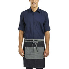 EXPRESSO | vintage denim short apron in Black, Indigo Blue