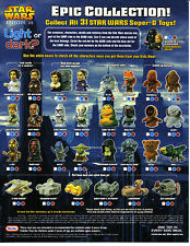 2005 Star Wars ROTS Burger King Kids Club Happy Meal TOYS Figures Vehicles NEW