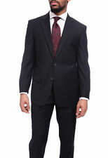 Raphael Solid Navy Blue Two Button Suit