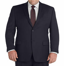 Palm Beach Portly Solid Navy Blue Wool Blend Blazer Sportcoat