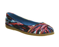 Womens Blowfish Glo Pumps TURQUOISE PINK CABRERA TRIBAL PRINT Flats