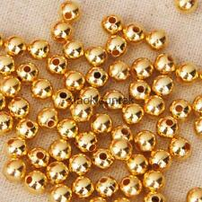 100pcs Gold Metal Craft With 1mm/2mm Hole 4mm/6mm Spacer Beads for DIY Jewelry