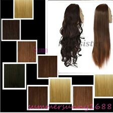 Women Ladies Wig Fall Clip In Hair Piece Half Wig Fall Real Thick Full Wigs S031