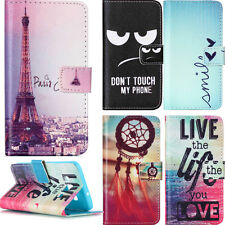 Card Holder Wallet Case for Samsung A3 A5 J5 LG G3 G4 L70 Phone Protective Cover