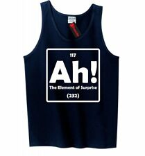 Ah The Element Of Surprise Funny Mens Tank Top Science Periodic Table Nerd Z3