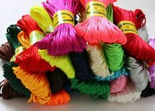 Chinese Knot Satin Nylon Braided Cord Macrame Beading Rattail Wire Cords 3mm
