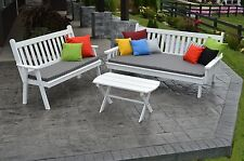 6 Ft Pine Traditional English Daybed, Bench & Coffee Table Set -8 Stain Options