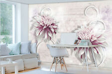 Photo Wallpaper NATURE FLOWERS PINK & WHITE Wall Mural (3440VE)