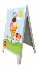 "Aufsteller, Kundenstopper, Werbung, Eis, Eisdiele, ""Its Summer Time"" Plakat"
