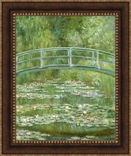 """Claude Monet The Water Lily Pond Framed Canvas Giclee Print 27""""x32.5"""" (V15-19)"""
