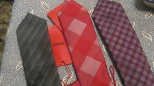 NWT HUGO BOSS TIE silk ITALY MADE $95 THIN TIE 2.25 INCH RED LABEL HUGO LINE